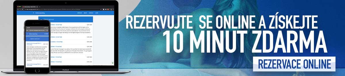REZERVUJTE ONLINE A ZÍSKEJTE  10 MINUT ZDARMA
